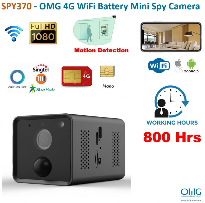 SPY370 - OMG 4G WiFi Battery Mini Spy Camera