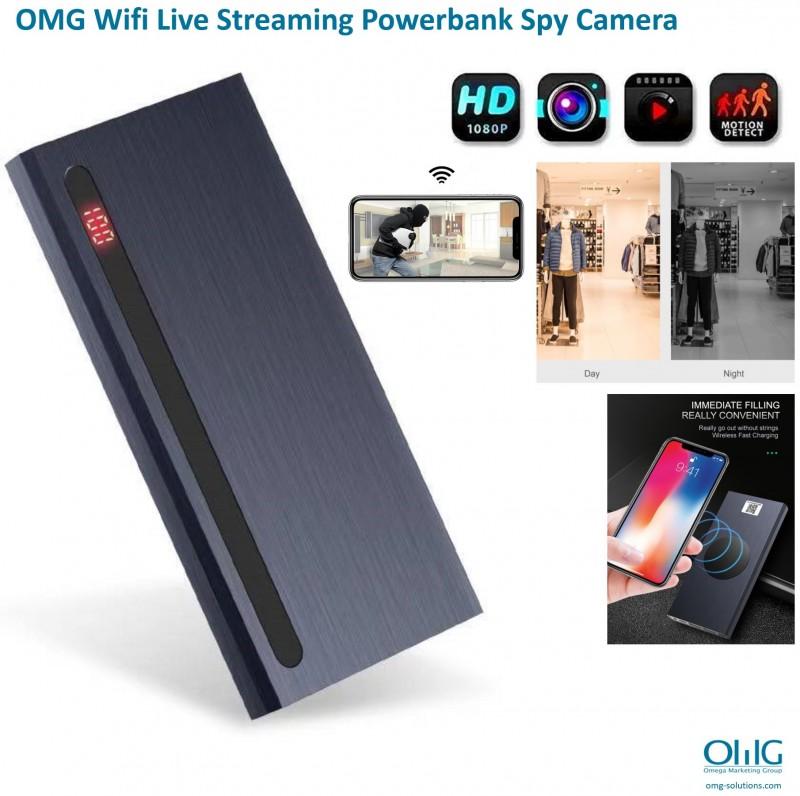 SPY374 - OMG Wifi Live Streaming Power Bank Hidden Spy Camera - Main v4