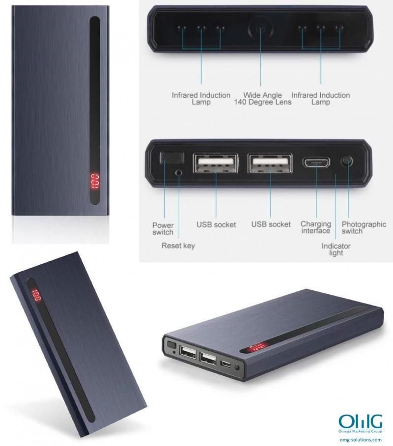 SPY374 - OMG Wifi Live Streaming Power Bank Hidden Spy Camera - Multiple View