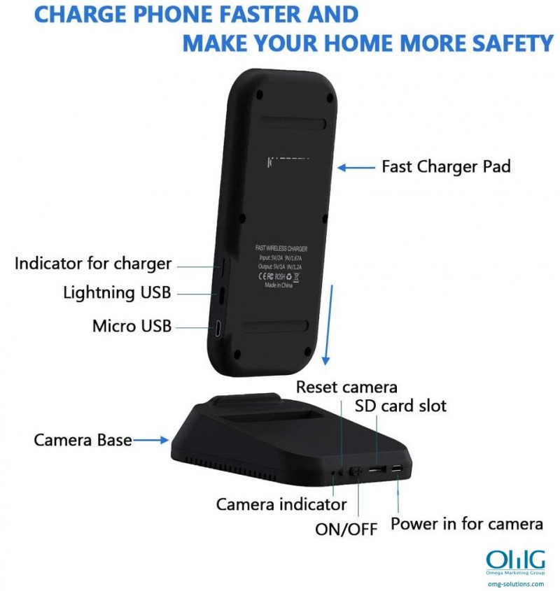 SPY385 - OMG Wireless iPhone Android Phone Charger Hidden Spy Camera - Intro v2