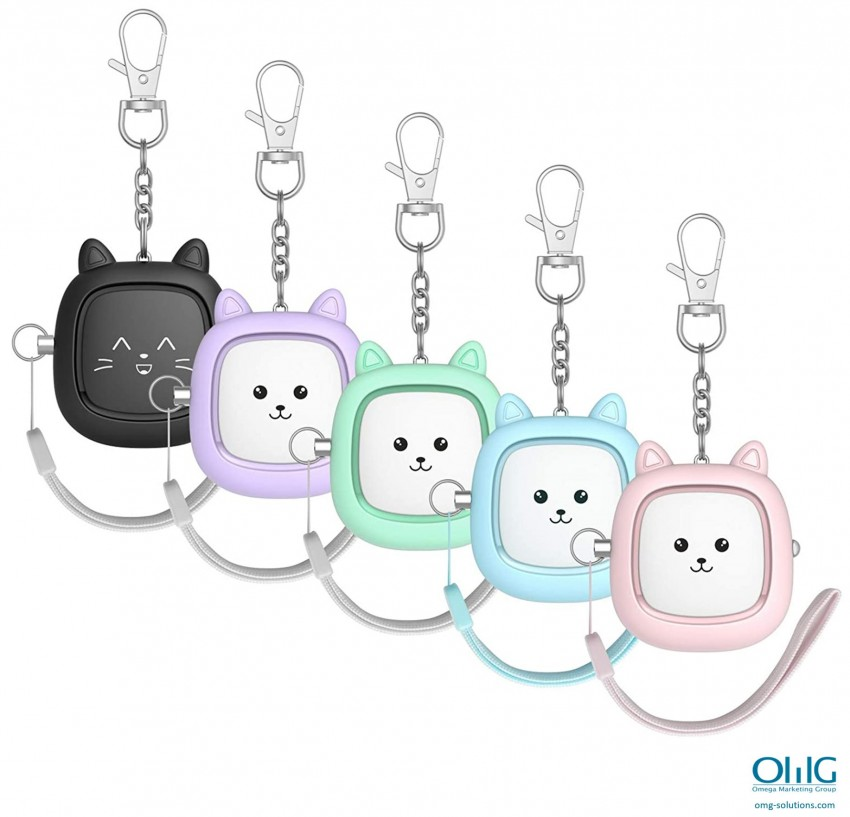 PA013 - Personal Shrill Alarm for Kids - Pull String - Colors